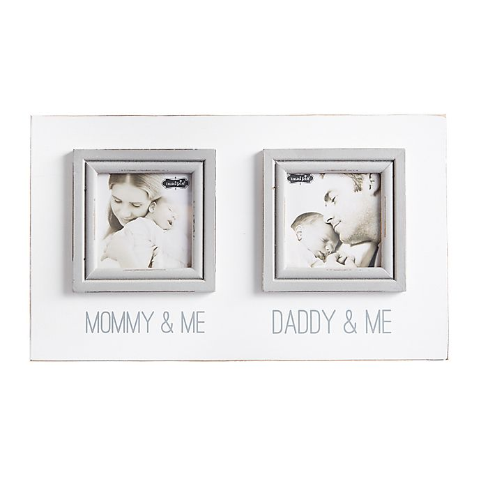 Mud Pie Mommy Daddy 2-Photo Collage Picture Frame in White | Bed ...