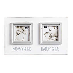 Mud Pie  Mommy Daddy 2-Photo Collage Picture Frame in White