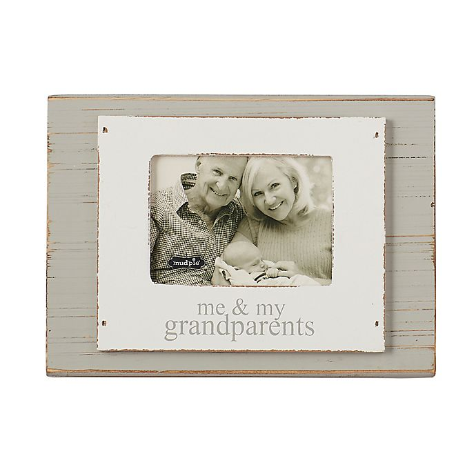 Alternate image 1 for Mud Pie® Family 8-Inch x 10-Inch Picture Frame in Grey