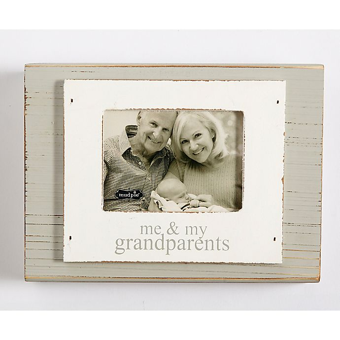 Mud Pie Grandparents 3-Inch x 4-Inch Picture Frame in White | Bed ...
