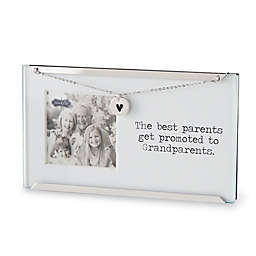 Mud Pie® Grandparents 2.5-Inch x 2.5-Inch Clip Picture Frame in White