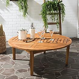 Safavieh Danville Round Acacia Wood Table in Teak Brown