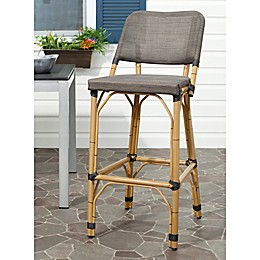 Safavieh Deltana Indoor/Outdoor Barstool in Brown