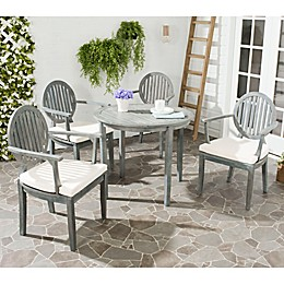 Safavieh Chino Wood 5-Piece Outdoor Dining Set