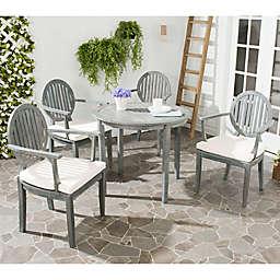 Safavieh Chino Wood 5-Piece Outdoor Dining Set