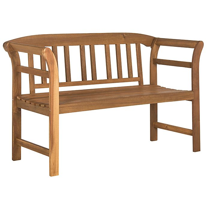 Prime Safavieh Porterville 2 Seat Outdoor Bench In Teak Unemploymentrelief Wooden Chair Designs For Living Room Unemploymentrelieforg