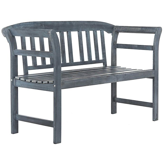 Marvelous Safavieh Porterville 2 Seat Outdoor Bench Bed Bath Beyond Unemploymentrelief Wooden Chair Designs For Living Room Unemploymentrelieforg