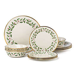 Lenox® Holiday™ 12-Piece Dinnerware Set with All Purpose Bowl
