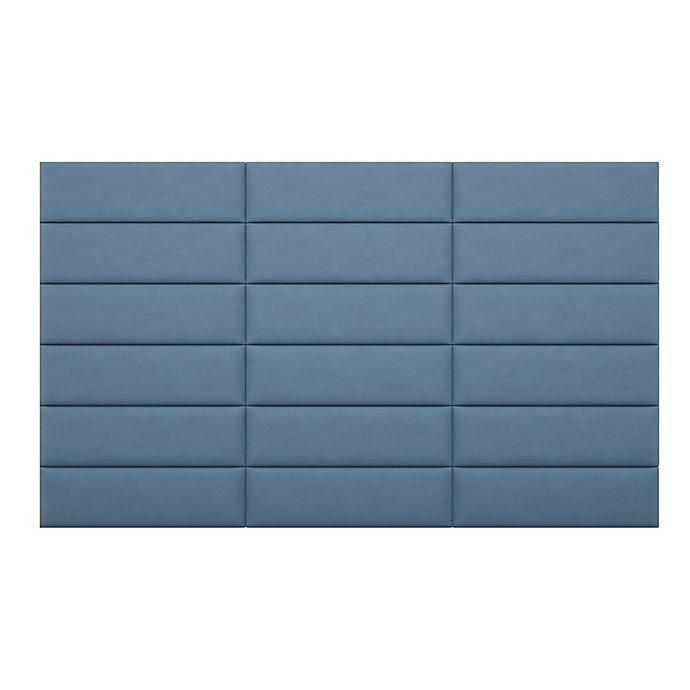 Alternate image 1 for Vant 117-Inch x 69-Inch Micro Suede Upholstered Headboard Panels in Ocean Blue