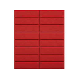 Vant 78-Inch x 92-Inch Micro Suede Upholstered Headboard Panels in Red