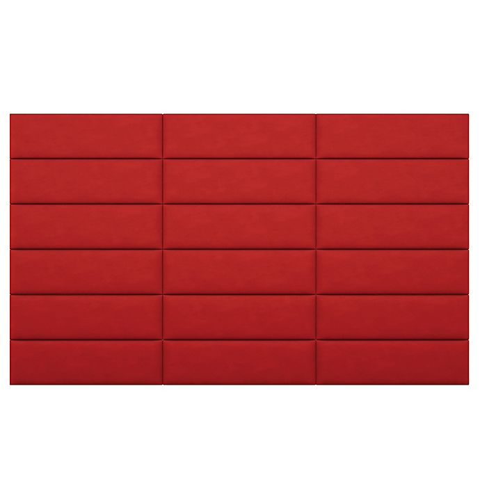 Alternate image 1 for Vant 117-Inch x 69-Inch Micro Suede Upholstered Headboard Panels in Red
