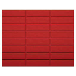 Vant 117-Inch x 92-Inch Micro Suede Upholstered Headboard Panels in Red