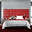 Part of the Vant Micro Suede Upholstered Headboard Panels in Red