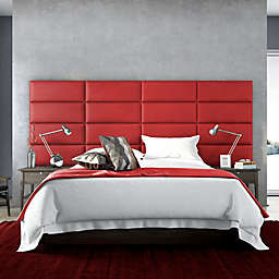Vant 60-Inch x 69-Inch Micro Suede Upholstered Headboard Panels in Red