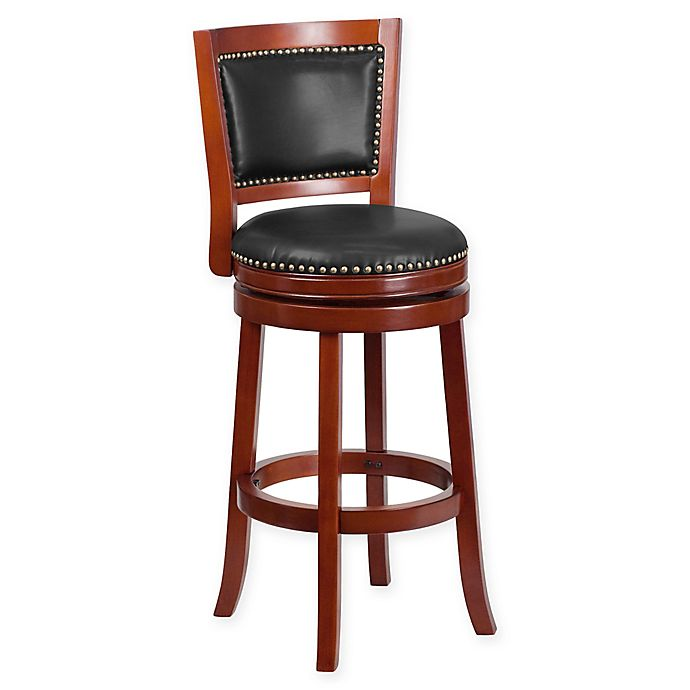 Alternate image 1 for Flash Furniture 31-Inch Wood Bar Stool in Cherry/Walnut