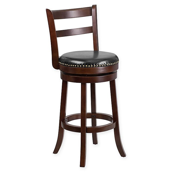 Flash Furniture 30 Inch Wood Bar Stool In Blackcappuccino Bed