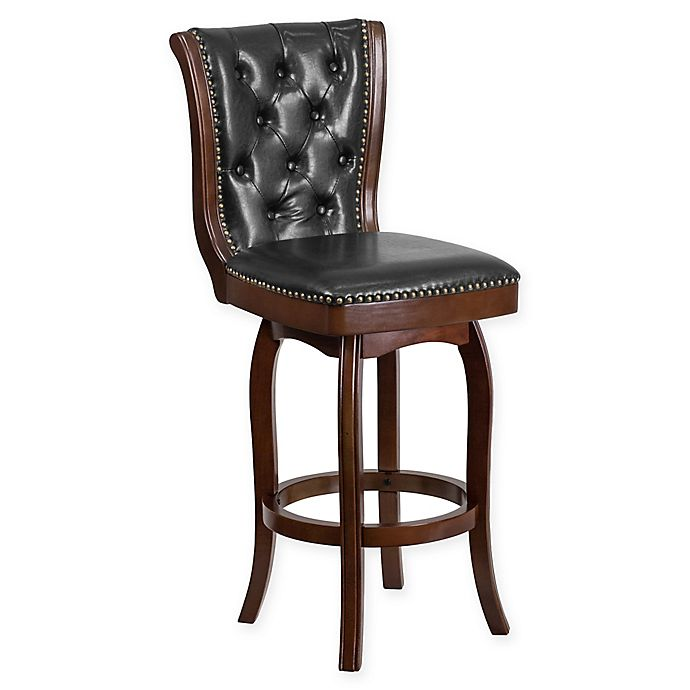 Alternate image 1 for Flash Furniture 31-Inch Wood Bar Stool in Black/Cappuccino