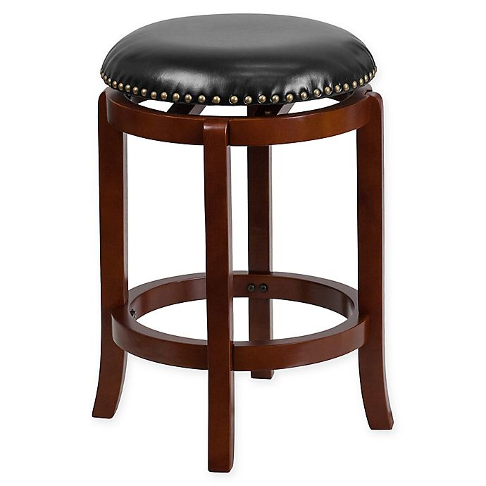Alternate image 1 for Flash Furniture 24-Inch Backless Wood Counter Stool in Black