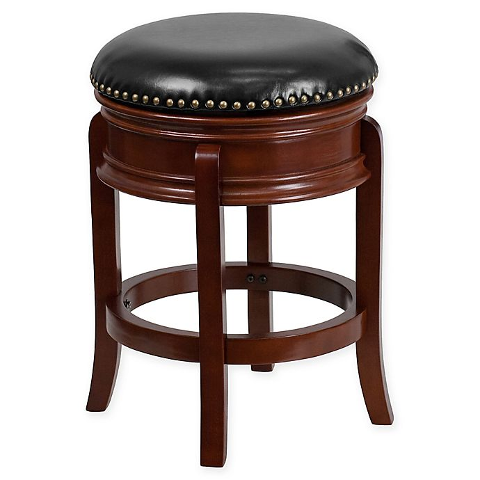 Alternate image 1 for Flash Furniture 24-Inch Backless Wood Stool in Black