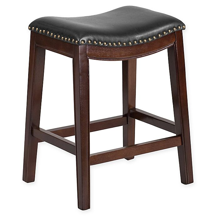 Flash Furniture 26 Inch Backless Wood Stool In Black Bed Bath Beyond