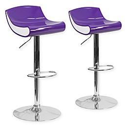 Flash Furniture Adjustable Chrome Pedestal Bar Stool (Set of 2)