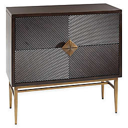 Madison Park Isabel 2-Door Chest in Morocco/Antique Bronze