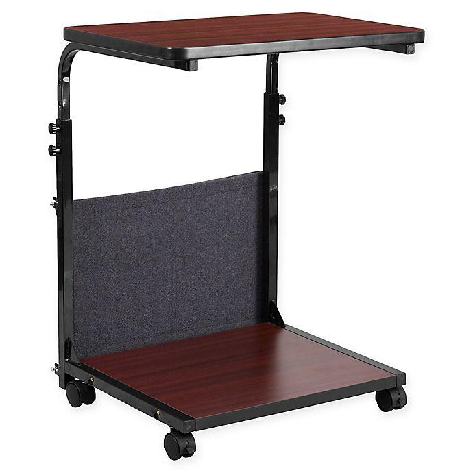 Alternate image 1 for Flash Furniture Adjustable Mobile Computer Desk in Mahogany