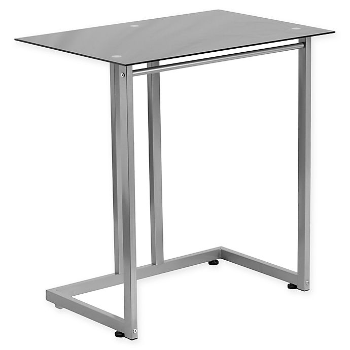 Alternate image 1 for Flash Furniture Clear Tempered Glass Desk