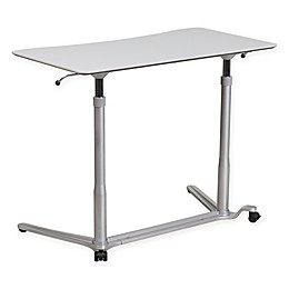 Flash Furniture Sit-Down, Stand-Up Desk in Grey