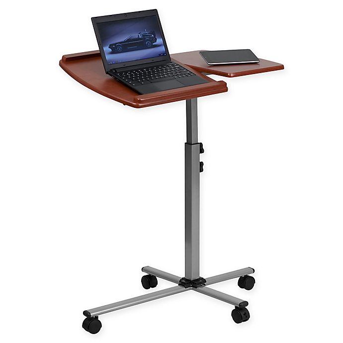 Alternate image 1 for Flash Furniture Mobile Laptop Computer Desk in Cherry