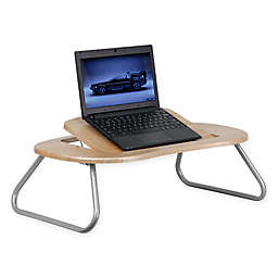 Flash Furniture Angle Adjustable Laptop Desk in Natural/Pewter Finish
