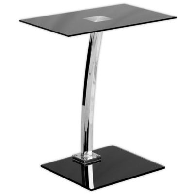 Flash Furniture 22.75 Inch Clear Computer Desk In Black by Bed Bath And Beyond