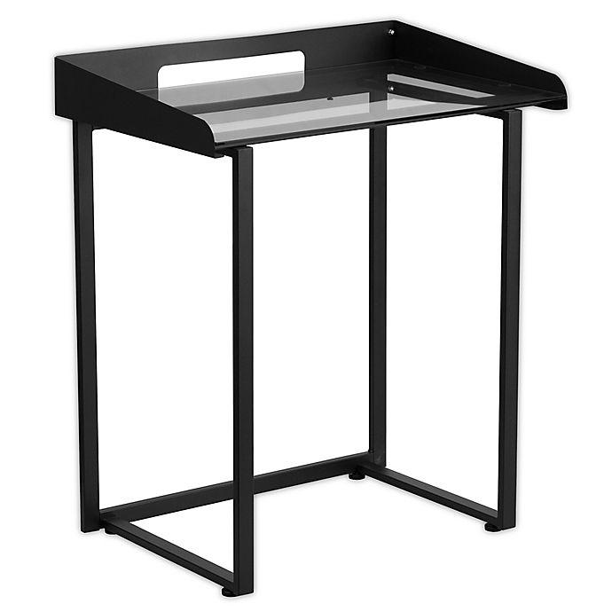 Alternate image 1 for Flash Furniture 32.25-Inch Tempered Glass Desk in Black