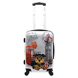 Chariot 20-Inch UK Puppy Hardside Spinner Suitcase in Grey
