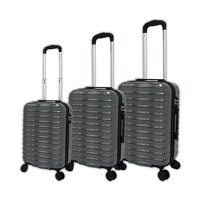 45d8faf95424 Chariot 3-Piece Wave Luggage Set in Grey | Bed Bath & Beyond