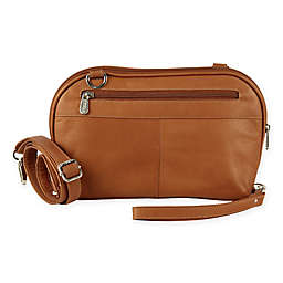 Piel® Leather 9.75-Inch Crossbody Carry All