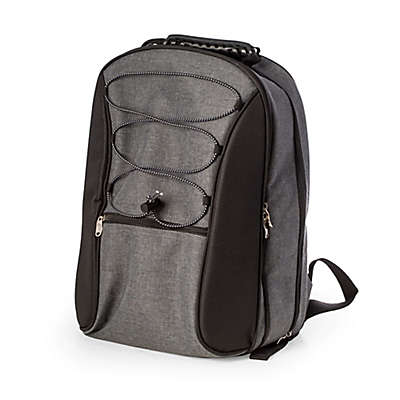 Bey-Berk 4-Person Picnic Backpack in Grey
