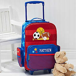 Stephen Joseph All Star Sports Embroidered Rolling Luggage
