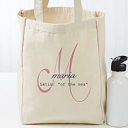 Name Meaning Petite Canvas Tote Bag