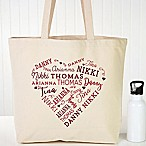 Close To Her Heart Canvas Tote Bag