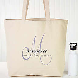 Name Meaning Canvas Tote Bag