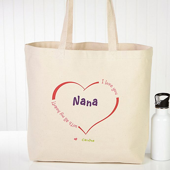 Alternate image 1 for All Our Hearts Canvas Tote Bag