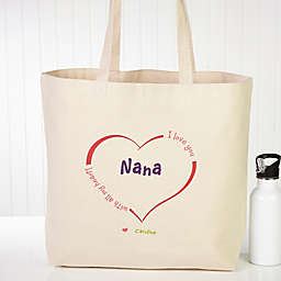 All Our Hearts Canvas Tote Bag