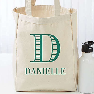 Striped Monogram Petite Tote Bag