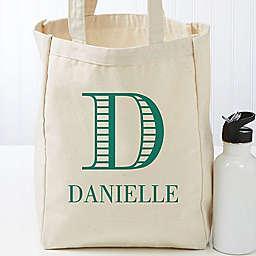 Striped Monogram Petite Tote Bag