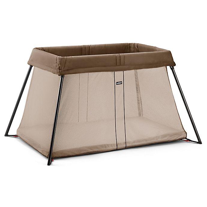 Alternate image 1 for BABYBJORN® Travel Crib Light in Light Brown