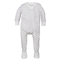 Burt's Bees Baby® Bee Chevron Organic Cotton Footed Pajama in Pink