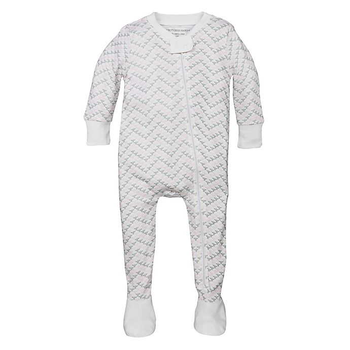 69f115569804 Burt s Bees Baby® Bee Chevron Organic Cotton Footed Pajama in Pink ...