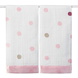 aden + anais® Classic Issie Heart Breaker 2-Pack Muslin Security Blanket in Pink