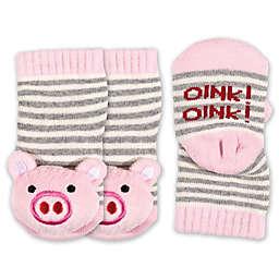 ED Ellen DeGeneres Size 0-6M Piggy Rattle Socks in Pink